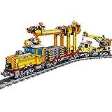 OATop 1270 + Teile City Güterzug Baustein Modell mit Schienen, City Zug mit Motor und LED Beleuchtungsset Bauset Kompatibel mit Lego