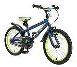 BIKESTAR Kinderfahrrad 18 Zoll für Mädchen und Jungen ab 5 Jahre   Kinderrad Urban Jungle   Fahrrad für Kinder Blau & Grün   Risikofrei Testen