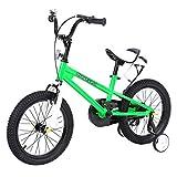 Yonntech Kinderfahrrad 16 Zoll mit Rücktritt Stützräder für Jungen Mädchen ab 3 4 5 6 7 Jahre Auto ausbalancieren (Grün)