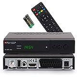 RED OPTICUM AX 300 Plus Sat Receiver mit PVR I Digitaler Satelliten-Receiver HD 1080p - HDMI - SCART - USB - Coaxial Audio I 12V Netzteil ideal für Camping I Receiver für Satellitenschüssel Schwarz