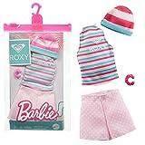 Barbie GRD44 - Roxy Bekleidung Mode Set - Short, Shirt und Beanie