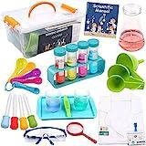 DigHealth Experimentierkasten mit Laborkittel für Kinder, Experimentierset Spielzeug mit Aufbewahrungskiste, STEM Lernspielzeug Geschenk für Jungen Mädchen Kinder im Alter 5 - 11 Jahren