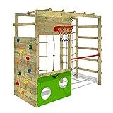 FATMOOSE Klettergerüst Spielturm CleverClimber, Gartenspielgerät mit Sandkasten, Leiter & Spiel-Zubehör
