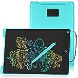 HOMESTEC Schreibtafel 12 Zoll, Buntes Display, LCD Elektronische Maltafel für Kinder, Display Kinder Laptop für Notieren/Zeichnen, Optimaler Papierersatz, Kinderspielzeug ab 3 Jahre Blau