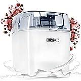 Duronic IM540 Eismaschine | Gefrierbehälter mit 1,5 L Fassungsvermögen | fertiges Dessert in 15-30 Minuten | Speiseeismaschine/Speiseeisbereiter für Eiscreme, Sorbet, Frozen Joghurt