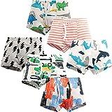 Adorel Jungen Unterhosen Boxershorts Baumwolle 6er-Pack Roboter & Hai & Gestreift 122-128 (Herstellergröße 130)