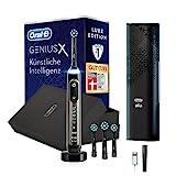Oral-B Genius X Luxe Edition Elektrische Zahnbürste/Electric Toothbrush mit künstlicher Intelligenz, Putztechnikerkennung & Bluetooth-App, 6 Modi, Lade-Reiseetui, 4 Aufsteckbürsten, anthracite grey