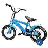 14 Zoll Kinderfahrrad, Aluminium Räder, Kettensicherheitsschutz, Jungen mit Stützräder Kinderfahrrad für Bike ab 3 Jahre