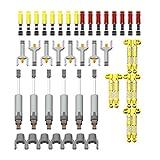HEDI Technik Ersatzteile Set, Technik Einzelteile, Technik Teile, Technic Zahnräder Set, Klemmbausteine Kompatibel mit Lego Ersatzteile