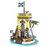 Piratenturm Architektur-Sets, MOC-71657, 1440 StückModularer Hausbaukasten Modellbausatz, kompatibel mit Lego 21322 Pirates of Barracuda Bay
