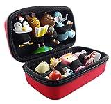 Tasche für Tonies Hörfiguren - ROT - geeignet für Toniebox: es finden bis zu 8 Tonie Figuren platz - Toniefiguren Tonifigur Aufbewahrung Transport-Tasche Transportbox Aufbewahrungs-Box Koffer Case