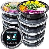 Runde Meal Prep Container Von Igluu [10er Pack] - Essensbox, Lunchbox Mikrowellengeeignet, Spülmaschinenfest Und Wiederverwendbar - Luftdichter Deckelverschluss, BPA Frei