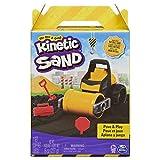 Kinetic Sand Pave and Play Bauset mit Fahrzeug und 227g schwarzer kinetischer Sand für Kinder ab 3 Jahren