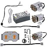 CADA Technik Technologie-Baustein-Auto-Funktionskit, einschließlich 3 Motoren, LED, Batteriekasten und 2,4-GHz-Fernbedienung (kompatibel mit vielen Modellen und Lego Funktionen) S054-003