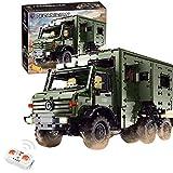 Tosbes Technik Wohnmobil Bausteine, 2.4GHz Dual Ferngesteuert RC Wohnwagen Modellbausatz, Unimog U5000, 6689 Teile LKW Fahrzeuge Konstruktion Spielzeug, Klemmbausteine Kompatibel mit Lego Technic