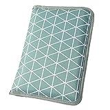 Wickeltasche für unterwegs mit Dreiecken grau (Farbe & Motiv wählbar) I praktische Windeltasche mit Fächern für Windeln, Feuchttücher etc.
