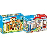 PLAYMOBIL City Life 5567 Kita Sonnenschein, Ab 4 Jahren [Exklusiv bei Amazon] & City Life 9454 Turnhalle, Ab 5 Jahren