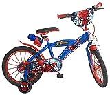 Toimsa 876 Bike Boy - Spiderman - 5 bis 8 Jahre, 16 Zoll