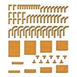 DioMate Building Blocks Technische Teile, DIY Technik Ersatzteilset, Lochbalken Locharm Ersatzteile, MOC Building Block Maschinenteileset, kompatibel mit 41239 32278 32348 6629 43857 (orange)