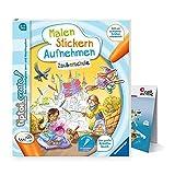 Malen, Stickern, Aufnehmen - Zauberschule | Ravensburger tiptoi Create Buch + Kinder Wimmel-Weltkarte 6-9 Jahre