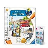 Collectix Ravensburger tiptoi ® Englisch Buch   Wir Lernen Englisch + Kinder Buchstaben Poster - Lern Tiere auf Englisch!