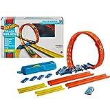 Hot Wheels GVG07 - Track Builder Unlimited Verstellbarer Looping Set mit 1 Hot Wheels Fahrzeug im Maßstab 1:64, für Kinder ab 6Jahren