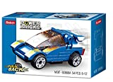 Sluban- Powerbricks-Pull Back Car-M38-B088A, M38-B0888A, Mehrfarbig