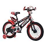 Kinderfahrrad Für Jungen Und Mädchen rutschfeste Griffbalance Bike Jungen Kinder Fahrrad Fahrrad Mit Trainingsrädern Wasserflasche Und Halter 18 Zoll