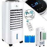 KESSER® 4in1 Mobile Klimaanlage | Fernbedienung | Klimagerät | Ventilator Klimaanlage | 7 L Tank | Timer | 3 Stufen | Ionisator Luftbefeuchter | Luftkühler | Weiß
