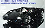 LEGO TECHNIC BUILD INSTRUCTIONS : LAMBORGHINI COUNTACH LP400: Step by Step Build Guide (English Edition)