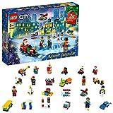 LEGO 60303 City Adventskalender 2021 Mini-Bauset, Spielzeug für Kinder ab 5 Jahren mit Spielbrett und 6 Minifiguren