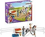 Schleich 42443 Horse Club Spielset - Horse Club Mias Voltigier-Reitset, Spielzeug ab 5 Jahren,6.6 x 24.5 x 19 cm