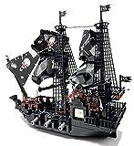 Bausteine Schiff, Geister Piratenschiff, Konstruktionsspielzeug, 807 Klemmbausteine