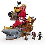 Mattel Fisher-Price Imaginext DHH61 - Pirates Haimaul-Piratenschiff, Spielzeug ab 3 Jahren