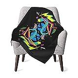 Baby-Decke, 80er-Jahre-Stil, geometrisches Muster, abstrakt, superweich, unisex, Plüsch, Kinderwagen-Decke, atmungsaktiv, Einschlagdecke für Neugeborene, Mädchen und Jungen, Halloween