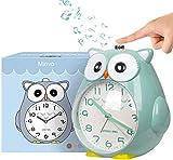KOROTUS COLLECTION Wecker Kinder ohne Ticken Kinderuhr mit nachtlicht Schlafzimmer Snooze Funktion Uhr Leise und Einfach zu Bedienen laut Alarm für Kinder, Batterie betrieben