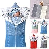 Kinderwagen Decke, Neugeborenen Wickeldecke Winter warme Schlafsack für 0-12 Monate Baby Jungen oder Mädchen (Blau)