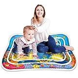 Aufblasbare Baby Wassermatte, Keten Bauch Zeit Auslaufsicheres PVC Wassergefüllte Spielmatte für Baby Spielzeuge 3 6 9 Monate, Spielcenter Das Stimulationswachstum Ihres Babys (40'' x 32'')