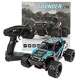 FunTomia Maximum RC Monster Truck - 4WD Thunder Car 36km/h ferngesteuertes Auto - Ersatzteile (1x Monster Truck / Thunder Car blau)