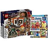 Lego Marvel Set: Spider-Man in der Sanctum Werkstatt 76185 + Avengers Heft Nr.8 (Comics, Malvorlagen, Poster) mit Iron Spider Minifigur