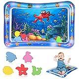 Hoiny Wassermatte Baby, Baby Spielzeuge 3 6 9 Monate, Wasserspielmatte Baby Aufblasbare Bauchzeit Matte für Baby Sensorisches Entwicklung Ausbildung,67 x 49 cm