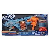 NERF Hasbro E9527EU4 Elite 2.0 Shockwave RD-15 Blaster, 30 Darts, 15-Dart Rotationstrommel, Schnellfeuer mit Pump-Action, mit Erweiterungsoptionen