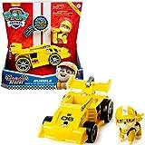 PAW Patrol Rubbles Race & Go Deluxe Basis Fahrzeug mit Figur (Ready, Race, Rescue)