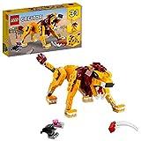 LEGO 31112 Creator 3-in-1 Wilder Löwe, Strauß oder Warzenschwein Set, Konstruktionsspielzeug für Kinder