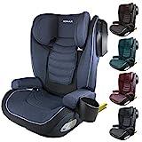 XOMAX A23 Kindersitz ISOFIX I mit Flaschenhalter I Gruppe 2/3, 15-36kg, 4-12 Jahre I mitwachsend I Bezug abnehmbar und waschbar I ECE R44/04