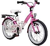 BIKESTAR Kinderfahrrad für Mädchen ab 4-5 Jahre   16 Zoll Kinderrad Classic   Fahrrad für Kinder Pink & Weiß   Risikofrei Testen