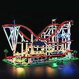 ADMLZQQ Beleuchtung Licht Set Für Lego Creator Expert Achterbahn - LED Beleuchtungsset Kompatibel Mit Lego 10261(Nicht Enthalten Lego Modell)