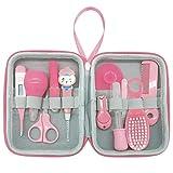 Babypflege-Kit 12-tlg, Babypflege-Kit Nagelknipser Nagelfeile Schere Baby-Sicherheits-Kit Haarbürste und Kamm-Set Säugling unverzichtbar für Neugeborene Unisex-Babys