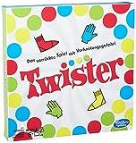 Hasbro Gaming Twister Spiel, Partyspiel für Familien und Kinder, Twister Spiel ab 6 Jahren, klassisches Spiel für drinnen und draußen
