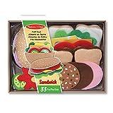 Melissa&Doug Felt Food Sandwichset   Fantasiespiel   Essensspiel   3+   Geschenk für Jungen oder Mädchen